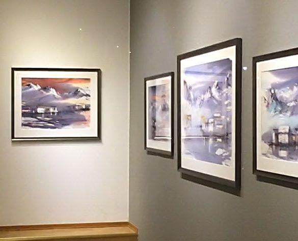 En titt inn i galleriet dagen før dagen